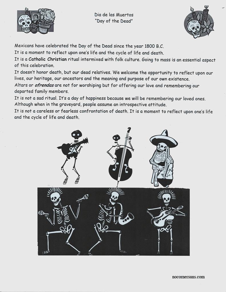 No Corner Suns Dia De Las Muertos Day Of The Dead Handout