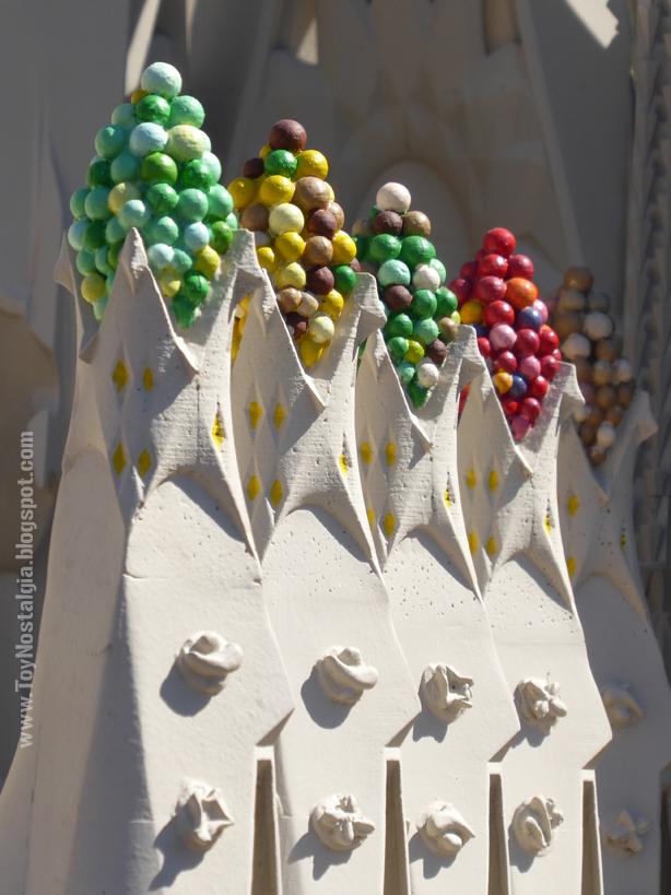 Detalle ornamental de La Sagrada Familia, Antoni Gaudí - Barcelona Catalunya en Miniatura - Catalonia Miniature