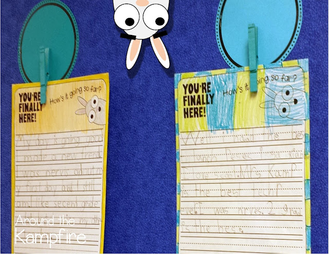 Back to school writing activity to go with You're Finally Here! by Melanie Watt. A fun way to get a first day writing sample!