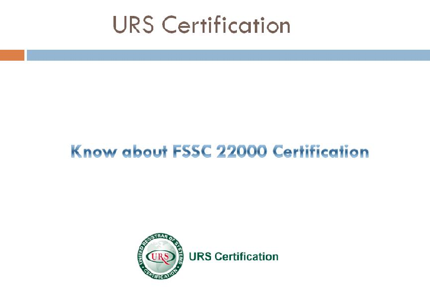 Fssc 22000 Quality Manual