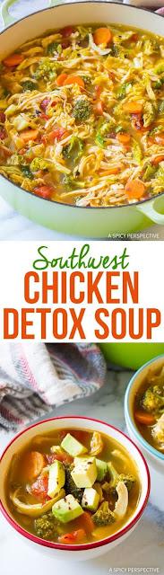 Southwest Chicken Detox Soup