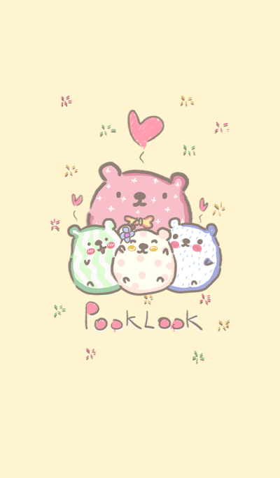 pooklook bears (yellow)