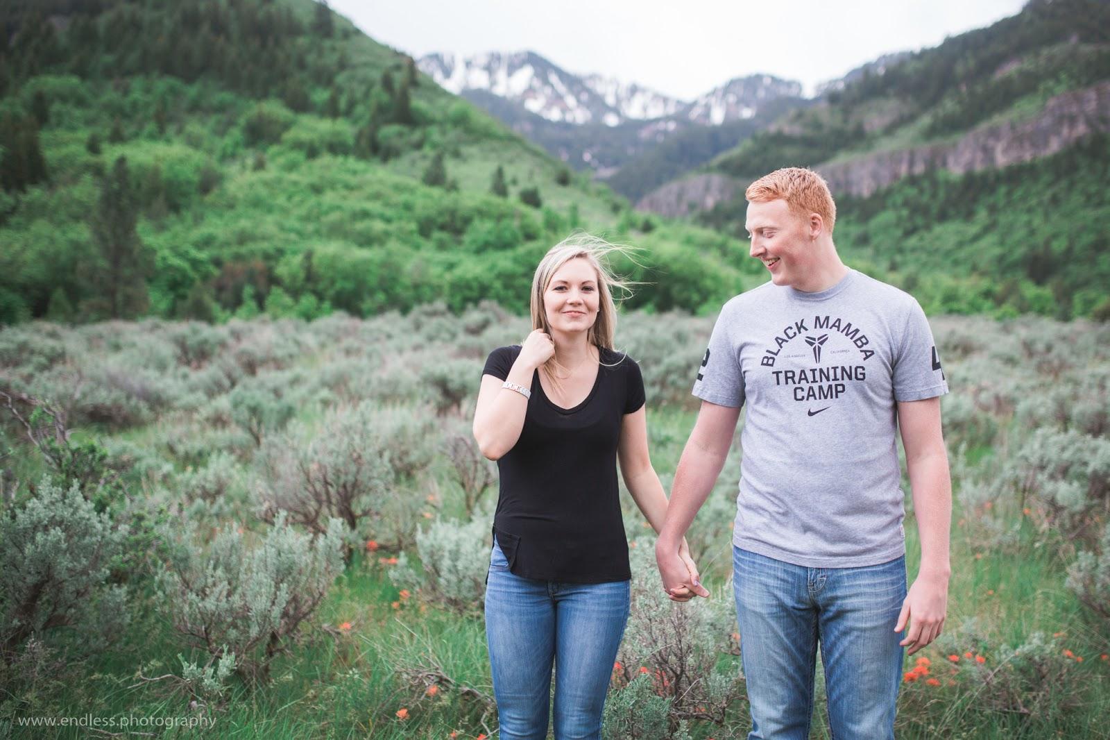 Logan Utah Wedding Photographer, Logan Canyon Engagements, Photography, Photographer, Wedding, Couple, Spring, Engagements