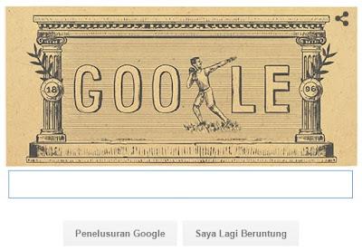 Olimpiade Modern Pertama Menghiasi Google Hari Ini