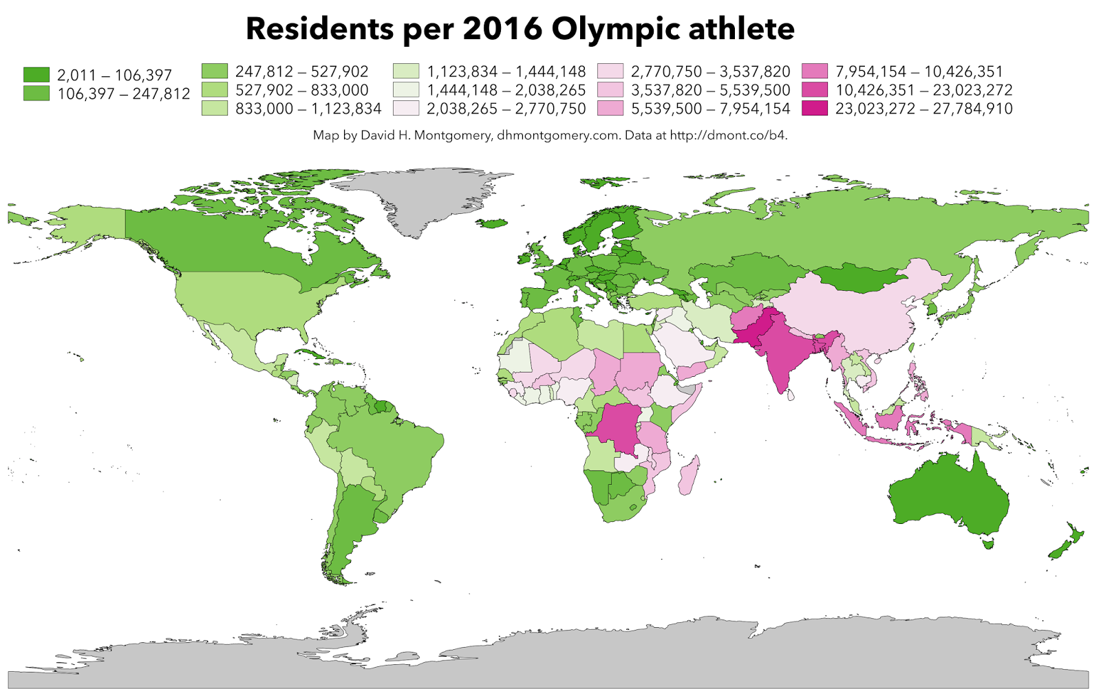 Residents per 2016 Olympic athlete