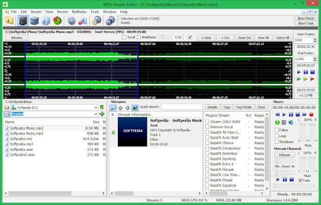تحميل برنامج قص وتحرير ام بي ثري MP3 Stream Editor