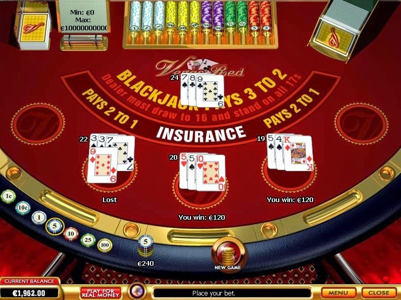 Vegas Red Blackjack Screen