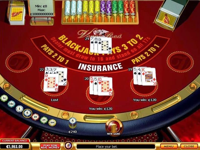 Vegas Red Blackjack Screen