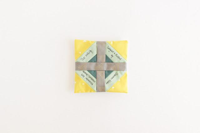 Handmade Label | Plus Infinity Quilt | Modern Quilt Pattern | Shannon Fraser Designs | Scandinavian Style