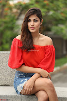 Rhea Chakraborty in Red Crop Top and Denim Shorts Spicy Pics ~  Exclusive 360.JPG