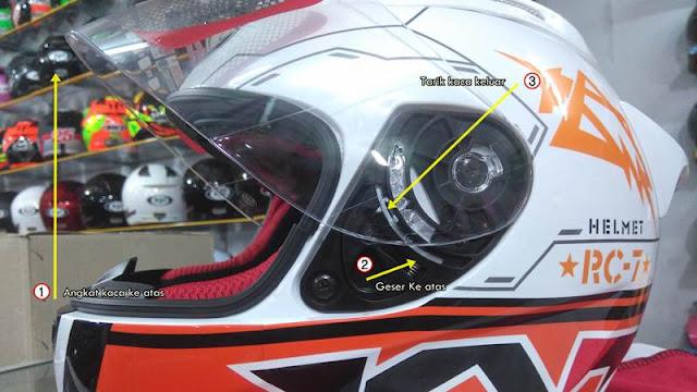 Cara Melepas Kaca Helm KYT R10 Full Face