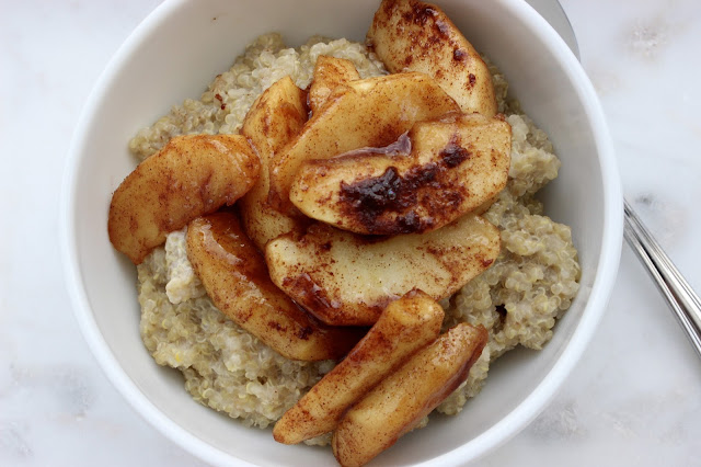 apple and cinnamon quinoa porridge