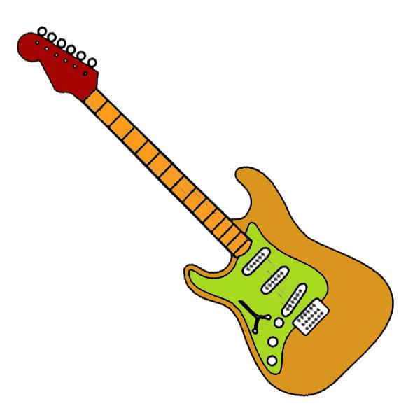 Gambar Mewarnai Gitar - 11