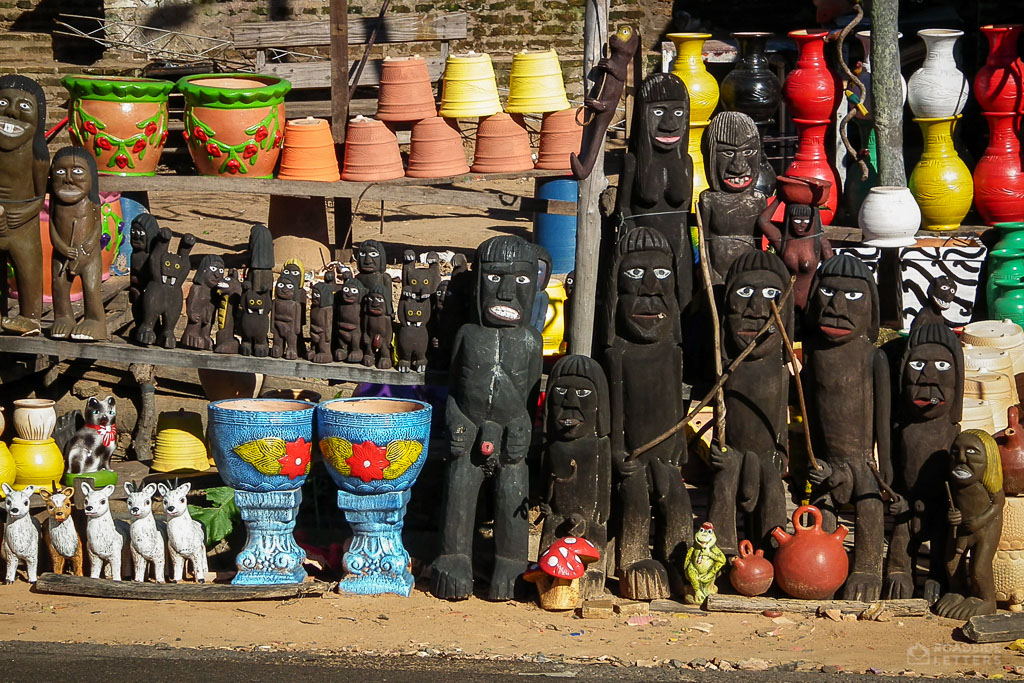 Sculptures by the roadside in Paraguay