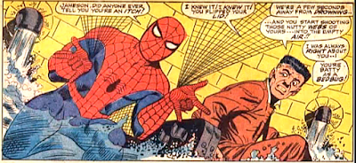 Amazing Spider-Man #52, john romita, as the shackled j jonah jameson watches and the room fills with water, spider-man shoots webbing into the air