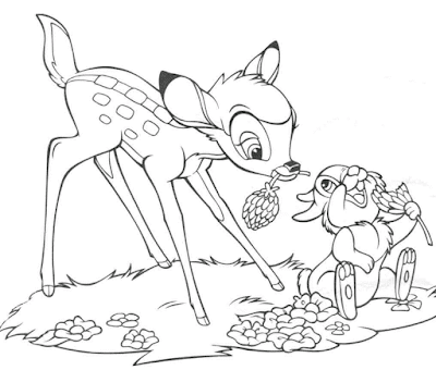 Gambar Mewarnai Bambi - 7