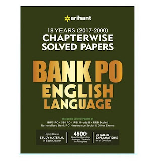 Arihant BANK PO English Language Chapterwise Solved Paper (English Edition)