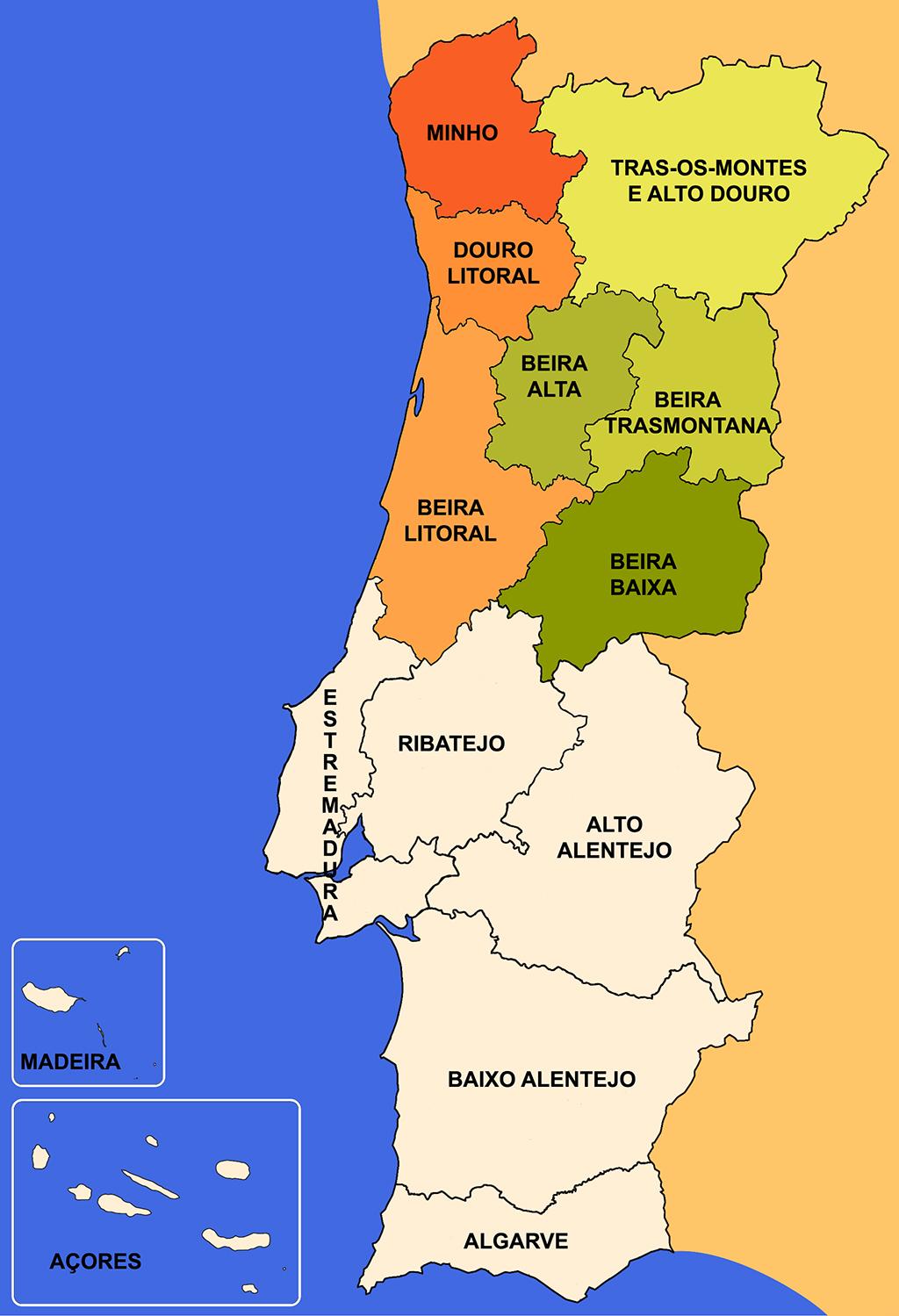 mapa de portugal com as provincias Panis Nostrum: Panes de Portugal   2. El norte, maíz y centeno mapa de portugal com as provincias
