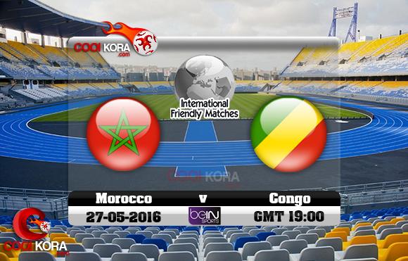 مشاهدة مباراة المغرب والكونغو اليوم 27-5-2016 مباراة ودية