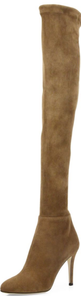 Jimmy Choo Toni 100 Suede Over-The-Knee Boots