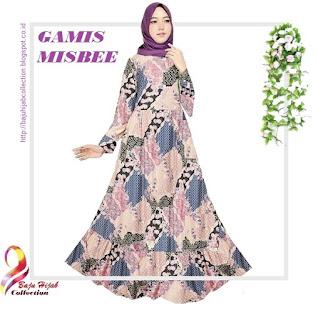 Gamis Misbee Jumbo Batik Purple