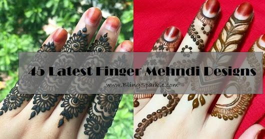45 Latest Finger Mehndi Designs || Finger Mehndi Style
