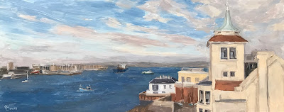 #156 'Tower House, Portsmouth Harbour' 8×20″