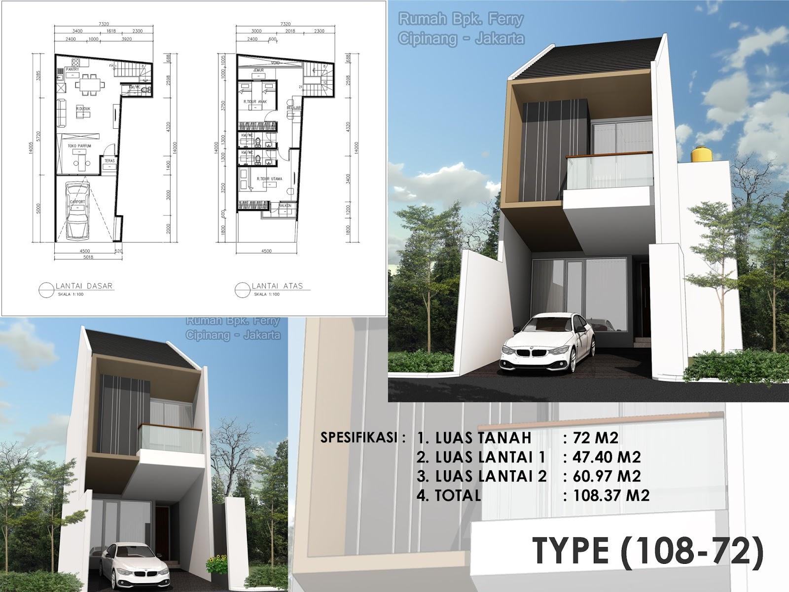 Desain Rumah Minimalis 2 Lantai Luas Tanah 60 M2