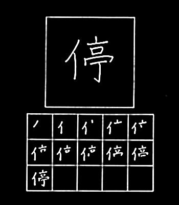 kanji pemberhentian