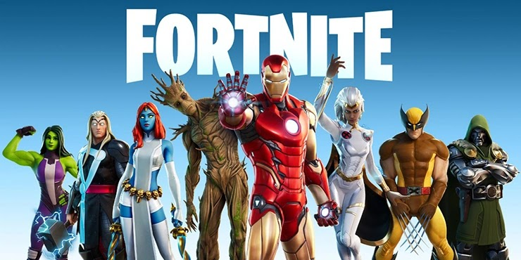 Скины Fortnite от компании Epic Games