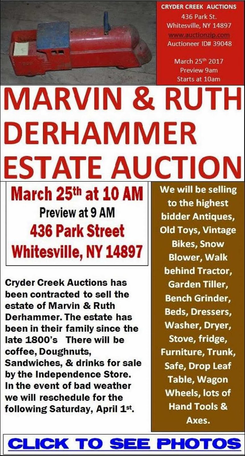 Derhammer Auction