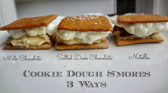 Cookie Dough S'mores-3 Ways