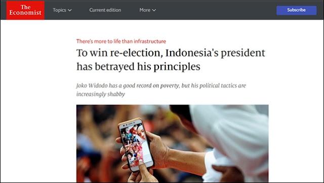 <i>The Economist</i>: Jokowi Melanggar Prinsip untuk Menangkan Pilpres