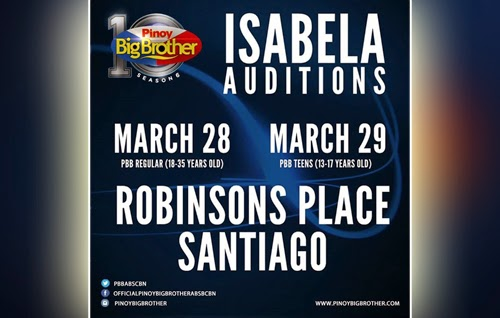 Pinoy Big Brother (PBB ) Season 6 audition in Isabela