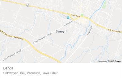 Peta Kecamatan Bangil Pasuruan