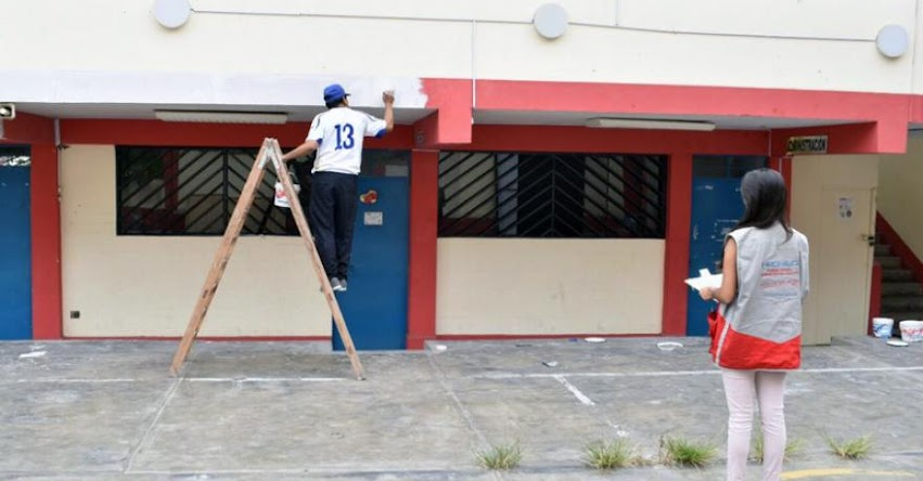 Especialistas del PRONIED realizaron inspecciones inopinadas en colegios de San Juan de Miraflores - www.pronied.gob.pe