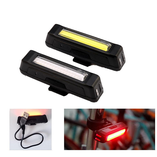 100 Lumen Waterproof USB Rechargeable Bicycle Safety Lights