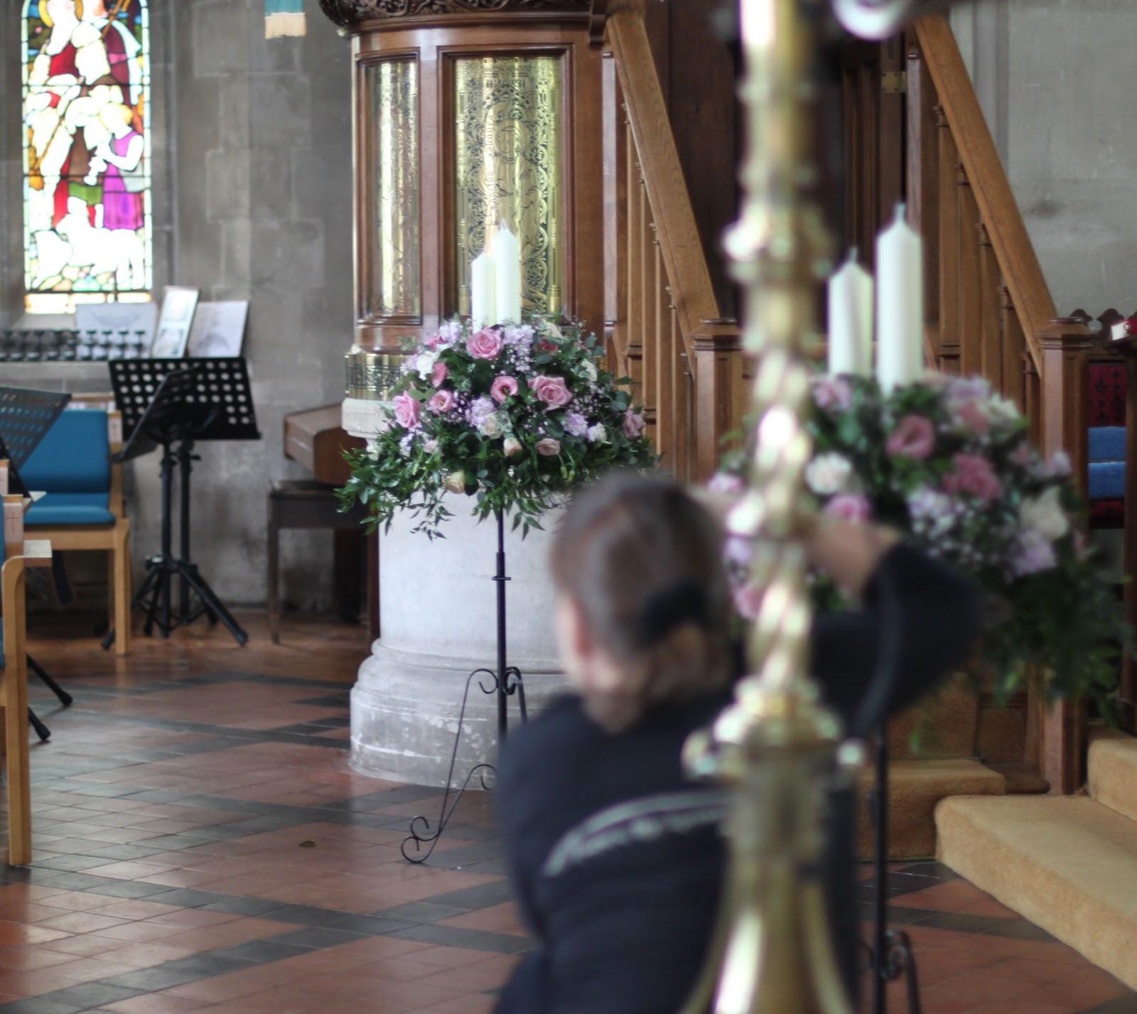Flowers Church Wedding: Wedding Flowers Blog: Sarah's Wedding Flowers, Warsash