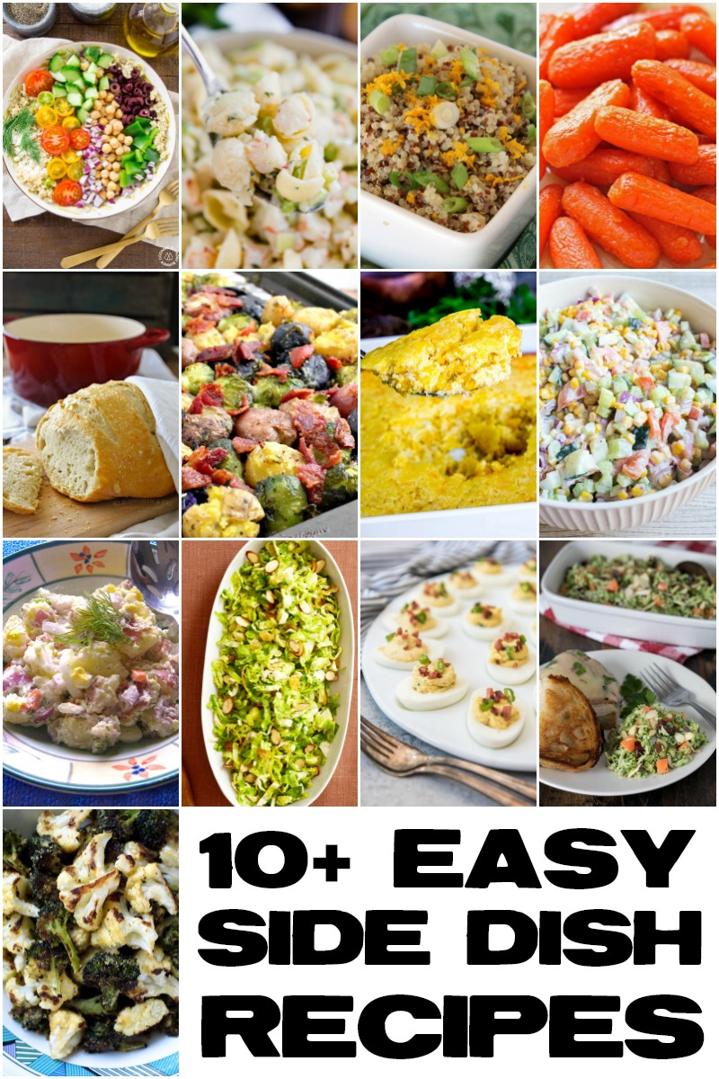 10 Easy Side Dish Recipes #easyrecipe #sidedish