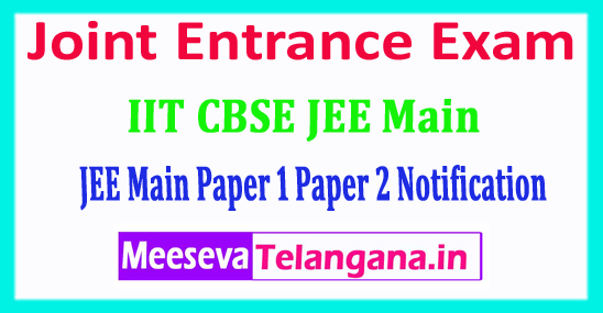 JEE Main 2018 Joint Entrance Exam Application Form Notification Exam Dates Fee Last Date Admit Card