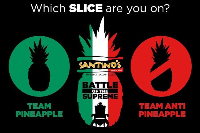 SANTINO'S SUPREME SLICE pizza
