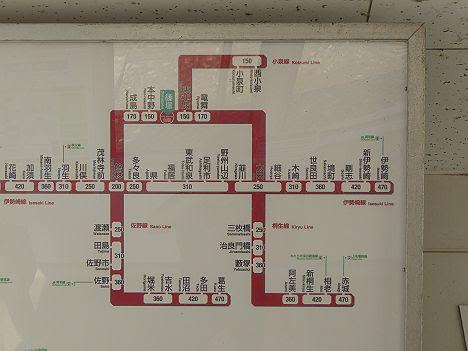 東武小泉線 篠塚駅運賃表