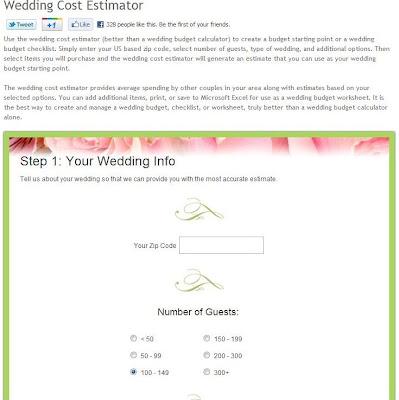 wedding cost calculator excel