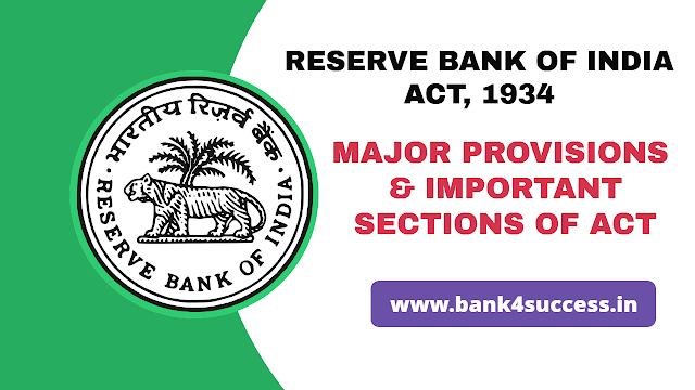 Major Provisions of Reserve Bank of India Act 1934 PDF Download