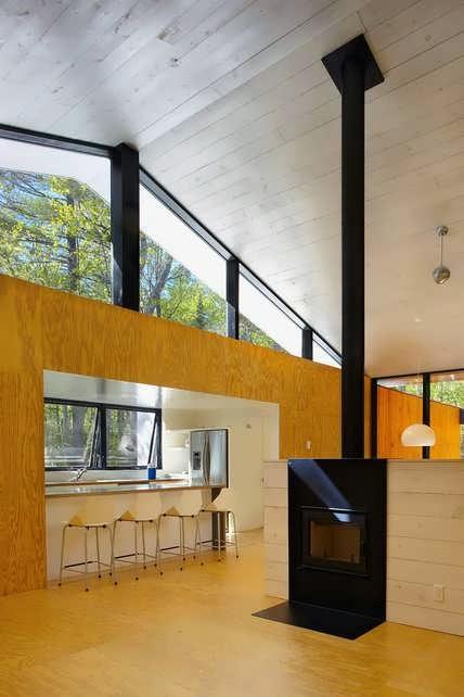 Minimalist Prefab Cottage Modern Design In Small Forest