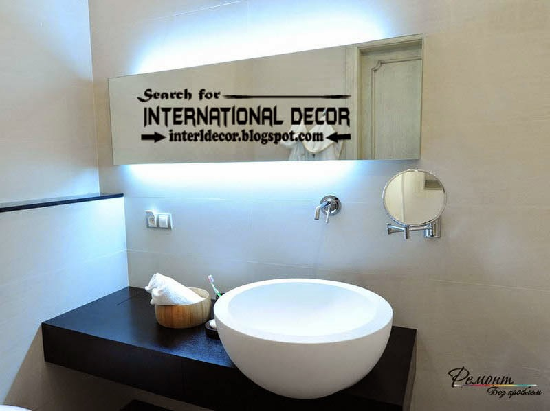Contemporary bathroom lights and lighting ideas, led lights for bathroom