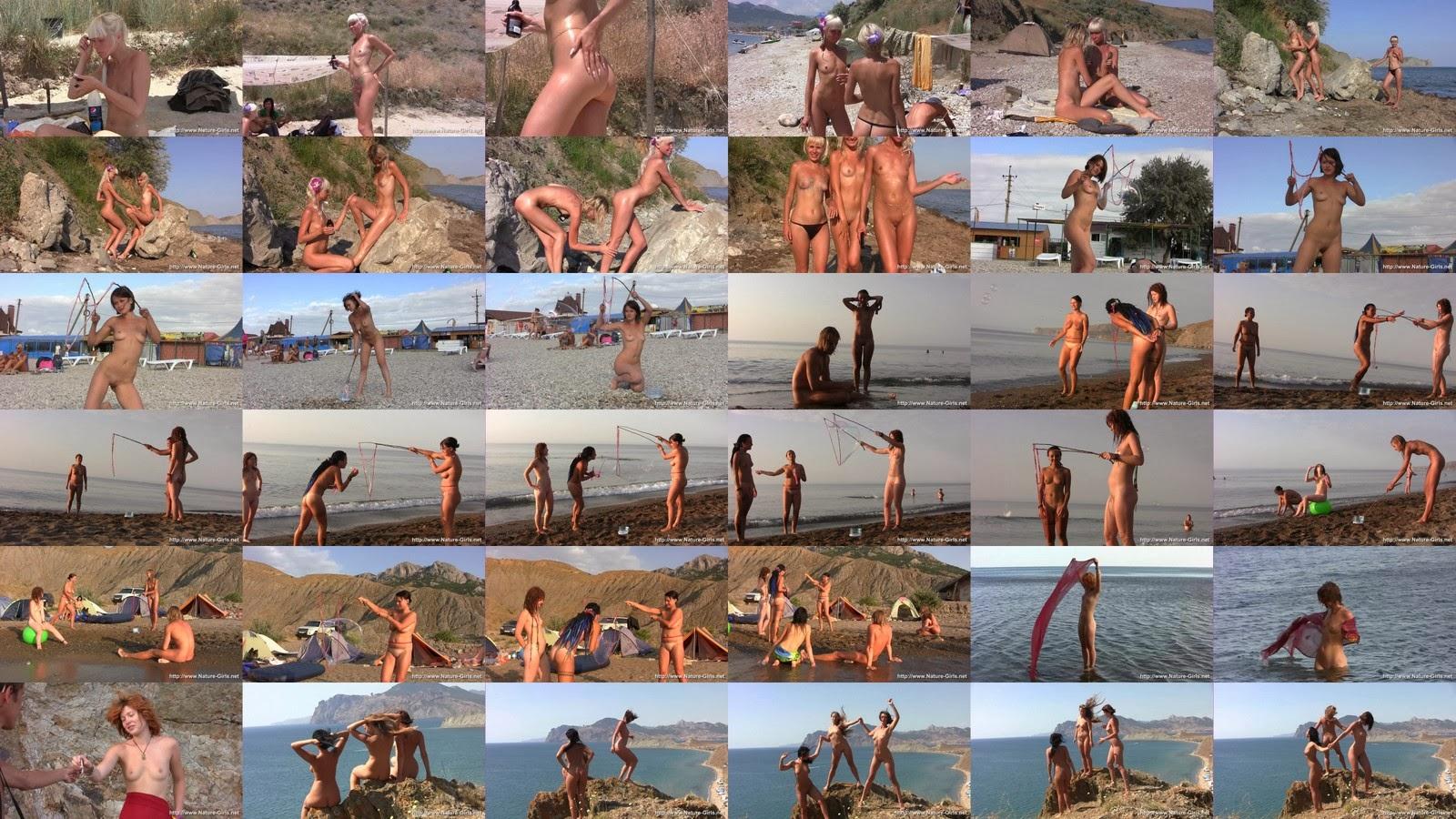 Нудисты На Пляже Трахаются