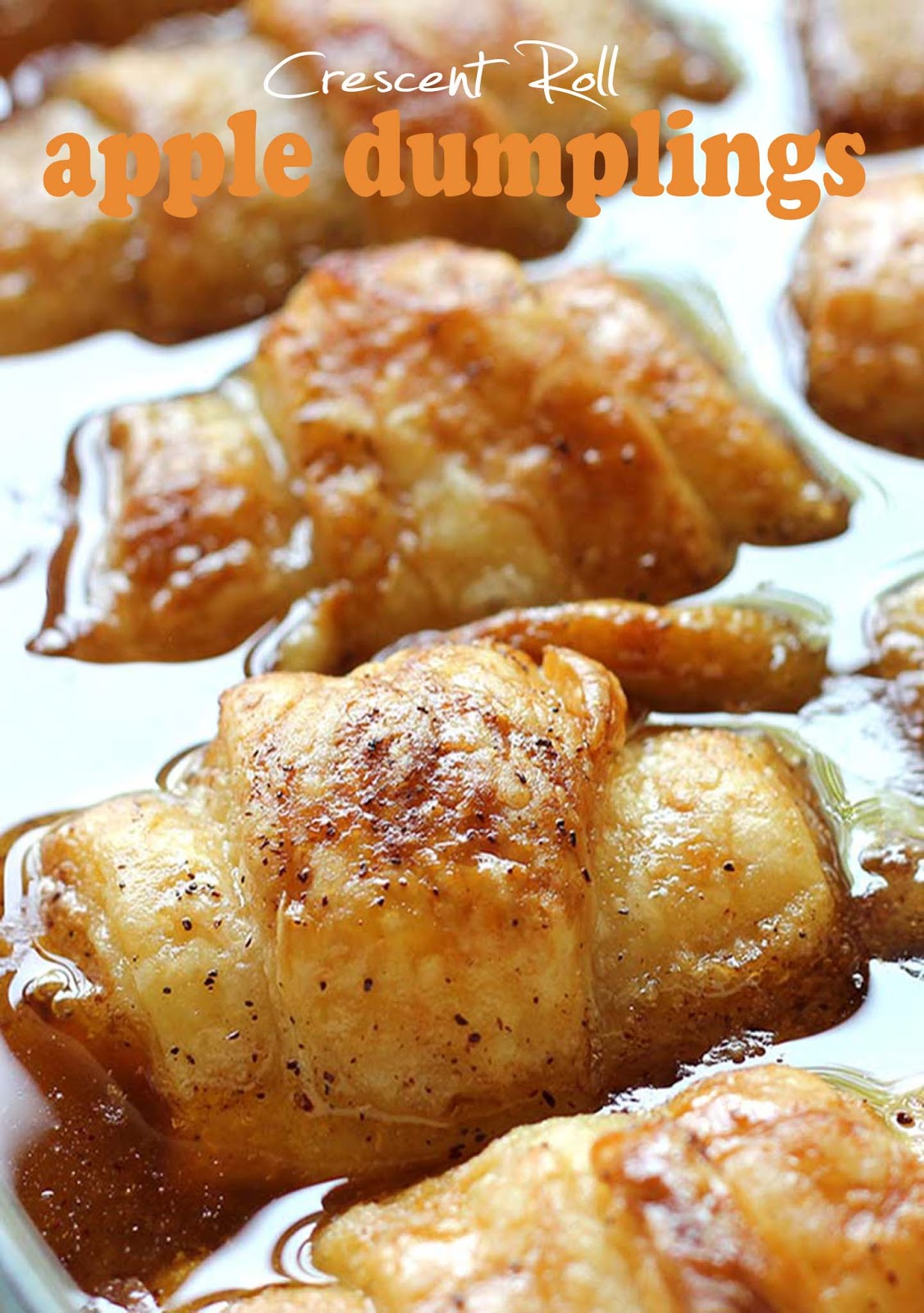 Crescent Roll Apple Dumplings #apple #dessert
