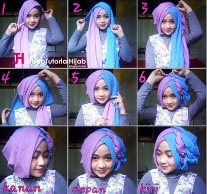 Contoh Tutorial Hijab Modern Wisuda Untuk Style Yang Berbeda