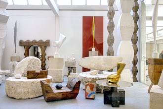 Paris : Atelier Brancusi, annexe du Centre Pompidou, reconstitution de l'atelier du sculpteur - IVème